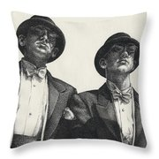 Gents Throw Pillow by Amy S Turner