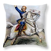George Armstrong Custer Throw Pillow by Granger