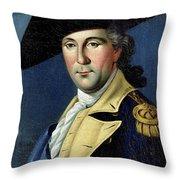 George Washington Throw Pillow by Samuel King