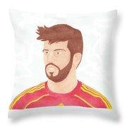Gerard Pique Throw Pillow by Toni Jaso