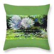 Germany Baden-baden Spring 2 Throw Pillow by Yuriy  Shevchuk