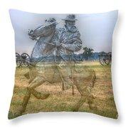 Ghost Of Gettysburg Throw Pillow by Randy Steele