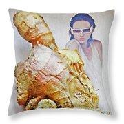 Ginger Man Throw Pillow by Sarah Loft
