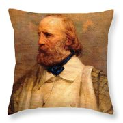 Giuseppe Garibaldi Throw Pillow by Pg Reproductions