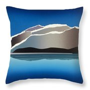 Glaciers Throw Pillow by Jarle Rosseland