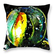 Glass Abstract 83 Throw Pillow by Sarah Loft