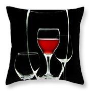 Glass Of Wine In Glass Throw Pillow by Tom Mc Nemar