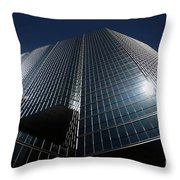 Glass Office Building Throw Pillow by Oleksiy Maksymenko