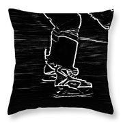 Gliding Throw Pillow by Karol Livote