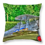 Gloster Gladiator 1938 Throw Pillow by Chris Thaxter
