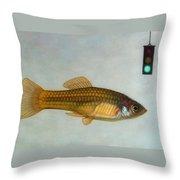 Go Fish Throw Pillow by James W Johnson