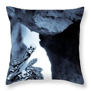 Goblin Shaman Throw Pillow by Marc Garrido