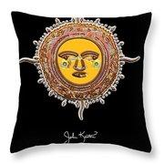 Gold Jewel Mohawk Sun Throw Pillow by John Keaton