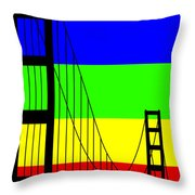 Golden Gay Throw Pillow by Asbjorn Lonvig