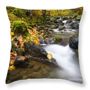 Golden Grove Throw Pillow by Mike  Dawson