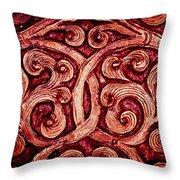 Golden Metalwork Throw Pillow by Nila Newsom