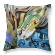 Golden Steed Throw Pillow by JAMART Photography