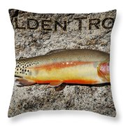 Golden Trout Throw Pillow by Kelley King