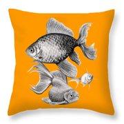 Goldfish Throw Pillow by Sarah Batalka