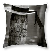 Gondolier Hat Throw Pillow by Dave Bowman