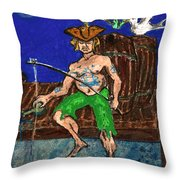 Gone Fishing Throw Pillow by William Depaula