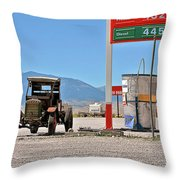 Good bye Death Valley - The End of the Desert Throw Pillow by Christine Till