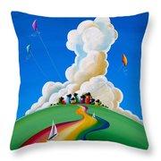 Good Day Sunshine Throw Pillow by Cindy Thornton