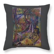 Goodbye Sweet Dreams Throw Pillow by Peggy  Blood
