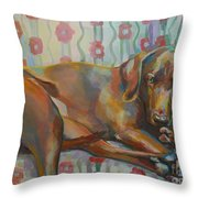 Grace's Throne Throw Pillow by Kimberly Santini
