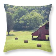 Grampa's Summer Barn Throw Pillow by Jan Amiss Photography