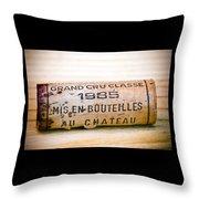 Grand Cru Classe Bordeaux Wine Cork Throw Pillow by Frank Tschakert