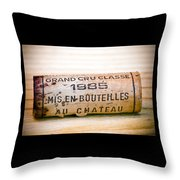 Grand Cru Classe Bordeaux Wine Cork Throw Pillow by Frank Tschakert