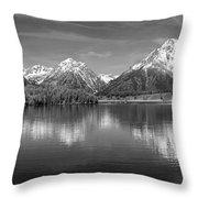 Grand Teton Tranquility Throw Pillow by Sandra Bronstein