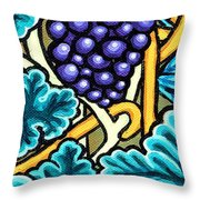 Grapes Throw Pillow by Genevieve Esson