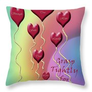Grasp Tightly For Eternity Throw Pillow by Cathy  Beharriell