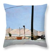 Gravel Piles Downtown La Throw Pillow by Peter Wilson