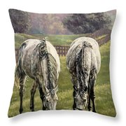Grazing Throw Pillow by Thomas Allen Pauly