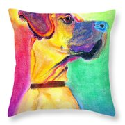 Great Dane - Rapture Throw Pillow by Alicia VanNoy Call