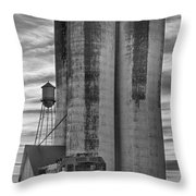 Great Western Sugar Mill Longmont Colorado Bw Throw Pillow by James BO  Insogna