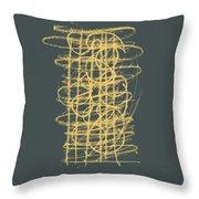 Green And Gold 1 Throw Pillow by Julie Niemela