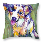 Green Couch    Throw Pillow by Pat Saunders-White
