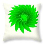 Green Flower Throw Pillow by Michael Skinner