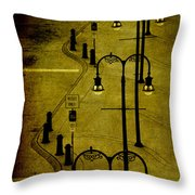 Green Light Throw Pillow by Susanne Van Hulst