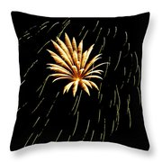 Green Streaks Throw Pillow by Phill Doherty