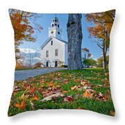 Greenfield Church Throw Pillow by Susan Cole Kelly