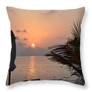 Greeting A New Day Throw Pillow by Corinne Rhode