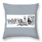 Growing Up Chinese Shar-pei Throw Pillow by Barbara Keith