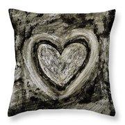 Grunge Heart Throw Pillow by Frank Tschakert