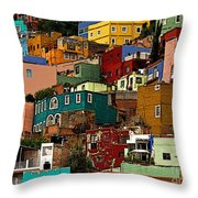 Guanajuato Hillside 4 Throw Pillow by Mexicolors Art Photography