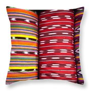 Guatemalan Textiles 2 Throw Pillow by Douglas Barnett